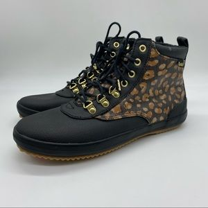 NWT KEDS Scout Boot Ii Canvas Rain Boot In Leopard